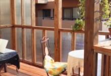 広島市東区 景色を一望 心地よいデッキ