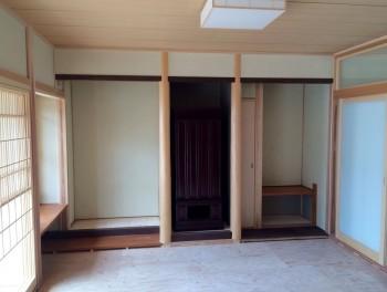 RC造 コンクリート平屋 フラット屋根 和室