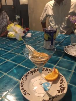 デザート、お祝い メッセージ