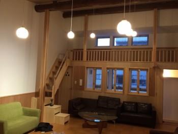 新築 ロフト ハンドメイド オーダーメイド 音楽スタジオ 天井高い お弁当屋さん 木材