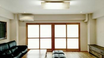 広島 DIY D・Uコダ 照明器具 和紙簡単 ビル リノベーション