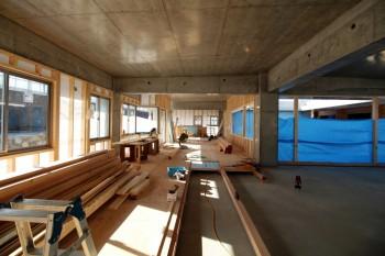 コンクリート 木 コンクリート木 平屋 コンクリート平屋 新築工事 住宅