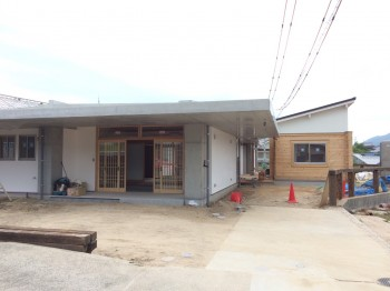 RC造 コンクリート平屋 フラット屋根 ログハウス コンクリート木造 体に優しい住宅